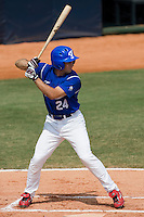 23 August 2007: Left Field #24 Gaspard Fessy at bat during the France 8-4 victory over Czech Republic in the Good Luck Beijing International baseball tournament (olympic test event) at the Wukesong Baseball Field in Beijing, China.