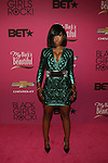 "Singer Sevyn Streeter in a Balmain mini and Christian Louboutin Pumps Attends ""BLACK GIRLS ROCK!"" Honoring legendary singer Patti Labelle (Living Legend Award), hip-hop pioneer Queen Latifah (Rock Star Award), esteemed writer and producer Mara Brock Akil (Shot Caller Award), tennis icon and entrepreneur Venus Williams (Star Power Award celebrated by Chevy), community organizer Ameena Matthews (Community Activist Award), ground-breaking ballet dancer Misty Copeland (Young, Gifted & Black Award), and children's rights activist Marian Wright Edelman (Social Humanitarian Award) Hosted By Tracee Ellis Ross and Regina King Held at NJ PAC, NJ"