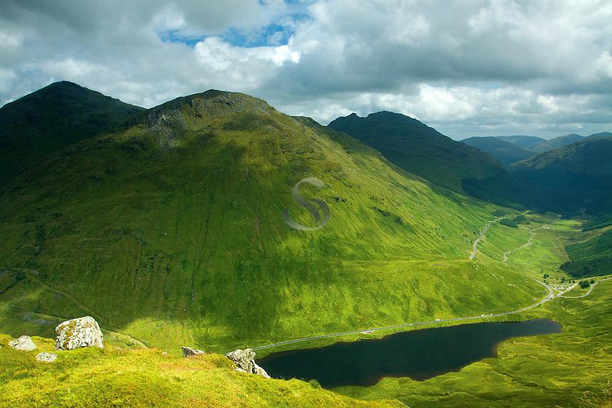 Ben Ime, Beinn Luibhean and Loch Restil from Beinn an Lochain, the Arrochar Alps, Argyll & Bute