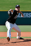 4 JUNE 2016: Steven Fleming (9) of Nova Southeastern University delivers a pitch during the Division II Men's Baseball Championship between Millersville University and Nova Southeastern University at the USA Baseball National Training Complex in Cary, NC.  Nova Southeastern University defeated Millersville University 8-6 to win the national title. Grant Halverson/NCAA Photos
