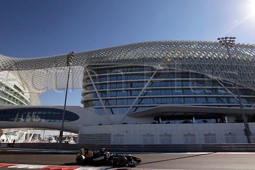 11.11.2011 Abu Dhabi, United Arab Emirates.  Motorsports: FIA Formula One World Championship 2011, Grand Prix of Abu Dhabi, 21 Jarno Trulli (ITA, Team Lotus), during the practice day of the FIA Formula One Grand Prix of Abu Dhabi UAE.