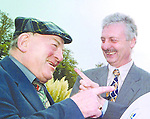 Kerry County Councillor Jackie Healy Rae TD and Kerry County Manager Martin Nolan, right. Deputy Healy Rae slammed his fists on the table and stormed out of Monday's council meeting after a clash with the county manager..Pic: MacMonagle, Killarney. Jackie Healy-Rae, TD from the book by Don MacMonagle entitled 'Jackie - Keeping Up Appearances' published in 2002.