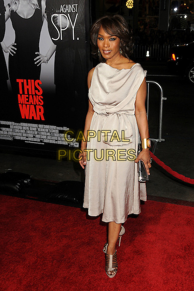 "Angela Bassett.""This Means War"" Los Angeles Premiere held at Grauman's Chinese Theatre, Hollywood, California, USA..February 8th, 2012.full length dress shoes silver grey gray sleeveless clutch bag.CAP/ADM/BP.©Byron Purvis/AdMedia/Capital Pictures."