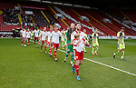 Ben Whiteman of Sheffield Utd leads out the players during the PDL U21 Final at Bramall Lane Sheffield. Photo credit should read: Simon Bellis/Sportimage