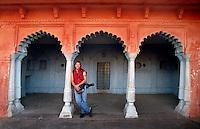 In Varanasi, India retracing Mark Twain's route around the world in 1996.