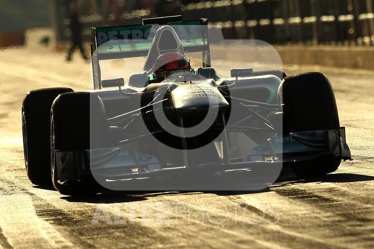 03.02.2011, Street Circuit, Jerez, ESP, Formel 1 Test 1 Valencia 2011,  im Bild  Michael Schumacher (GER), Mercedes GP . Foto © nph /  poleposition.at  // +++++ ATTENTION - only for GER, AUT, CRO  +++++ //