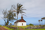 The Huialoha Church in the Kaupo district of Southeast Maui, Hawaii.