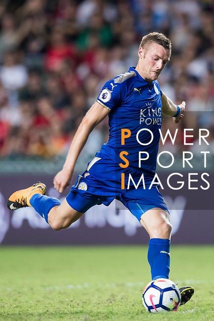 Leicester City FC forward Jamie Vardy in action during the Premier League Asia Trophy match between Leicester City FC and West Bromwich Albion at Hong Kong Stadium on 19 July 2017, in Hong Kong, China. Photo by Yu Chun Christopher Wong / Power Sport Images