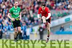 Kieran Courtney Glenbeigh Glencar in action against Diarmuid Carroll Rock Saint Patricks in the Junior Football All Ireland Final in Croke Park on Sunday.