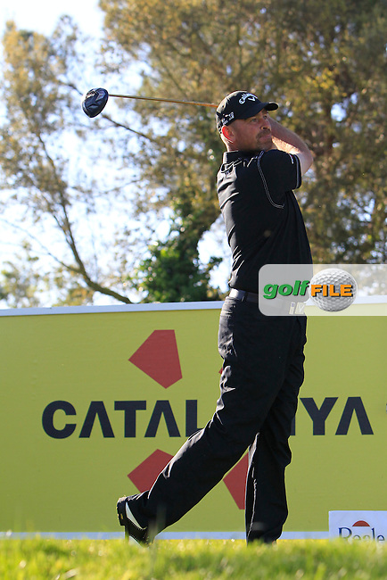 Thomas Bjorn (DEN) on the 13th tee during Thursday's Round 1 of The Open De Espana at The PGA Catalunya Resort. 15th May 2014.<br /> Picture:  Thos Caffrey / www.golffile.ie