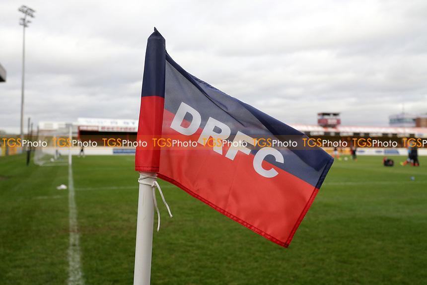 General view of the corner flag during Dagenham & Redbridge vs Maidenhead United, Vanarama National League Football at the Chigwell Construction Stadium on 7th December 2019