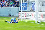 i29.07.2018, Erzgebirgsstadion, Aue, GER, Freundschaftsspiel/Testspiel/Eröffnung Erzgebirgsstadion Aue, FC Erzgebirge Aue vs. FC Schalke 04, im Bild<br /> <br /> <br /> 1:0 für den FC Erzgebirge Aue durch Robert Herrmann (#38, FC Erzgebirge Aue), Torhueter Alexander Nuebel (#35, FC Schalke 04) hätte den Schuss beinahe gehalten<br /> <br /> Foto © nordphoto / Dostmann