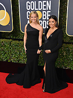 Reese Witherspoon &amp; Eva Longoria at the 75th Annual Golden Globe Awards at the Beverly Hilton Hotel, Beverly Hills, USA 07 Jan. 2018<br /> Picture: Paul Smith/Featureflash/SilverHub 0208 004 5359 sales@silverhubmedia.com