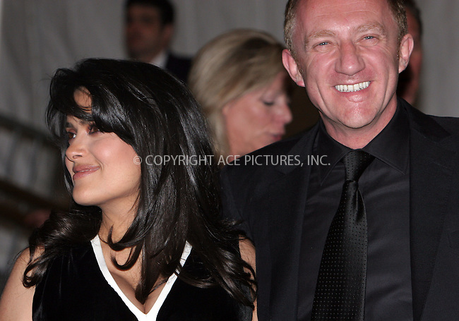 WWW.ACEPIXS.COM . . . . .  ....May 7 2007, New York City....Salma Hayek AND Francois-Henri Pinault....Costume Institute at the Metropolitain Museum Gala 2007 exits.....Please byline: NANCY RIVERA- ACE PICTURES.... *** ***..Ace Pictures, Inc:  ..tel: (646) 769 0430..e-mail: info@acepixs.com..web: http://www.acepixs.com