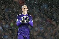 Joe Hart celebrates during the Barclays Premier League Match between Manchester City and Swansea City played at the Etihad Stadium, Manchester on 12th December 2015