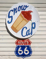 Snow Cap Drive-In sign on old Route 66 in Seligman, AZ