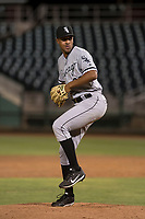 AZL White Sox relief pitcher Devon Perez (33) delivers a pitch during an Arizona League game against the AZL Indians 1 at Goodyear Ballpark on June 20, 2018 in Goodyear, Arizona. AZL Indians 1 defeated AZL White Sox 8-7. (Zachary Lucy/Four Seam Images)