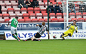 HIBERNIAN'S IVAN SPROULE SCORES HIBS FIRST