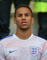 Isaac Hayden (Newcastle United) of England during the International EURO U21 QUALIFYING - GROUP 9 match between England U21 and Norway U21 at the Weston Homes Community Stadium, Colchester, England on 6 September 2016. Photo by Andy Rowland / PRiME Media Images.