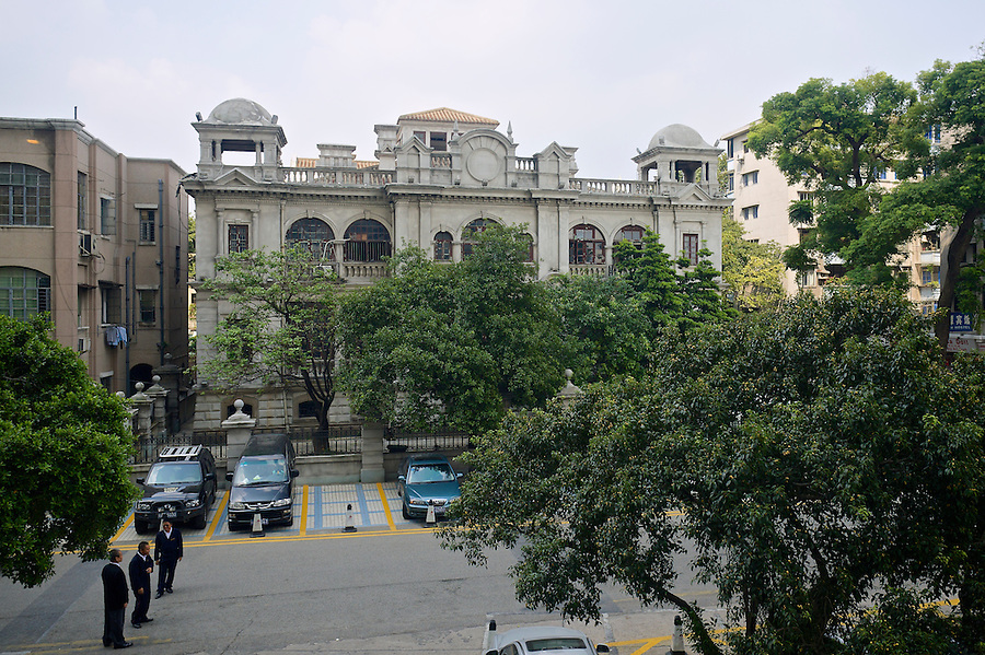 The Front Of The Office Building On Shamian (Shameen) Island Before Redecoration In 2010.
