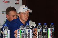 Paul Dunne (Team Europe) during a post match interview after winning the Eurasia Cup at Glenmarie Golf and Country Club on the Sunday 14th January 2018.<br /> Picture:  Thos Caffrey / www.golffile.ie