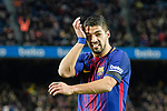 Luis Suarez of FC Barcelona reacts during the La Liga 2017-18 match between FC Barcelona and Deportivo La Coruna at Camp Nou Stadium on 17 December 2017 in Barcelona, Spain. Photo by Vicens Gimenez / Power Sport Images