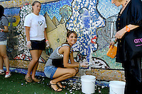 """Actress Maria Menounos attends the """"Bing Summer Of Doing"""" with Dosomething.org by restoring CITYarts Mosaic Peace Wall at the Jacob H. Schiff Playground on July 10, 2012 in New York City. © mpi81 / MediaPunch Inc."""