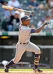10 September 2006: Alfonso Soriano, left fielder for the Washington Nationals, in action against the Colorado Rockies. The Rockies defeated the Nationals 13-9 at Coors Field in Denver, Colorado...Mandatory Photo Credit: Ed Wolfstein.
