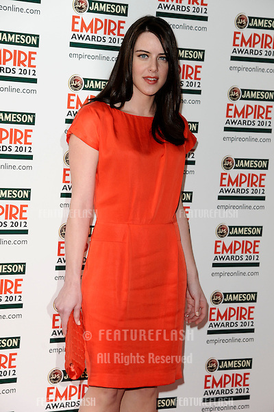 Michelle Ryan arriving for the Empire Film Awards 2012 at the Grosvenor House Hotel, London. 25/03/2012 Picture by: Steve Vas / Featureflash