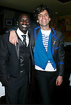WEST HOLLYWOOD, CA. - February 08: Recording Artists Akon and Mika attend the Universal Music Group Chairman Doug Morris' Grammy Awards Viewing Dinner at The Palm on February 8, 2009 in West Hollywood, California.
