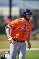 Houston Astros AJ Reed (35) during a Minor League Spring Training Intrasquad game on March 28, 2018 at FITTEAM Ballpark of the Palm Beaches in West Palm Beach, Florida.  (Mike Janes/Four Seam Images)