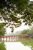 VIETNAM, Hanoi, Huc Bridge over Hoan Kiem Lake, Old Quarter