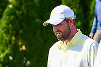Marc Leishman (AUS) departs the 4th tee during round 3 Four-Ball of the 2017 President's Cup, Liberty National Golf Club, Jersey City, New Jersey, USA. 9/30/2017.<br /> Picture: Golffile | Ken Murray<br /> <br /> All photo usage must carry mandatory copyright credit (&copy; Golffile | Ken Murray)