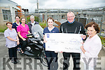 l-r  Carmel O'Connor, Aileen Diggins, Mary Nolan, Ted Moynihan, Marie O'Connell, Gerard McCarthy and Mary Shanahan. Members of the Kerry Biking School who presented funds raised from a motor bike run through the Wild Atlantic Way, Cork/Kerry to The Kerry Hospice