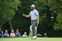 Jon Rahm (ESP) after sinking his birdie putt on 7 during Rd3 of the 2019 BMW Championship, Medinah Golf Club, Chicago, Illinois, USA. 8/17/2019.<br /> Picture Ken Murray / Golffile.ie<br /> <br /> All photo usage must carry mandatory copyright credit (© Golffile   Ken Murray)