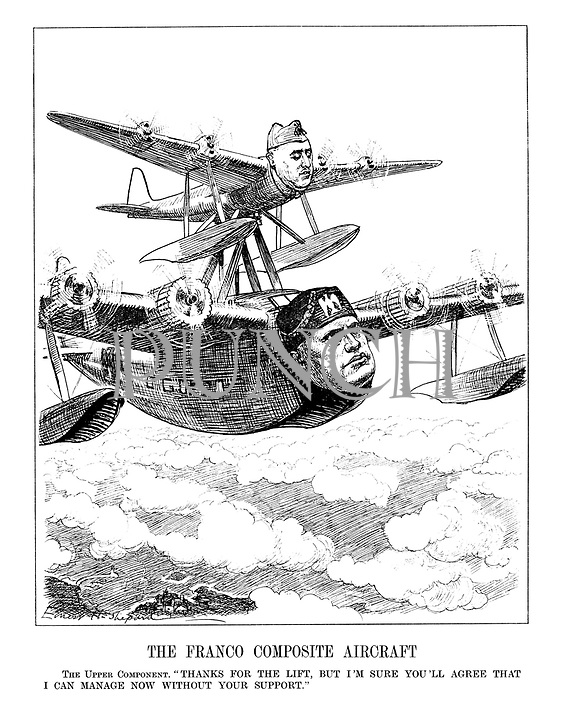 """The Franco Composite Aircraft. The Upper Component. """"Thanks for the lift, but I'm sure you'll agree that I can manage now without your suppport."""""""