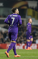 Mauro Zarate of Fiorentina during the UEFA Europa League 2nd leg match between Tottenham Hotspur and Fiorentina at White Hart Lane, London, England on 25 February 2016. Photo by Andy Rowland / Prime Media images.