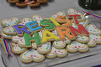 NWA Democrat-Gazette/J.T. WAMPLER Cookies donated for the post-sermon reception are displayed Sunday Jan. 5, 2020 at Trinity United Methodist Church in Fayetteville.