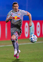16th July 2020, Orlando, Florida, USA;  New York Red Bulls midfielder Alex Muyl (19) runs with the ball during the MLS Is Back Tournament between the Columbus Crew SC versus New York Red Bulls on July 16, 2020 at the ESPN Wide World of Sports, Orlando FL.