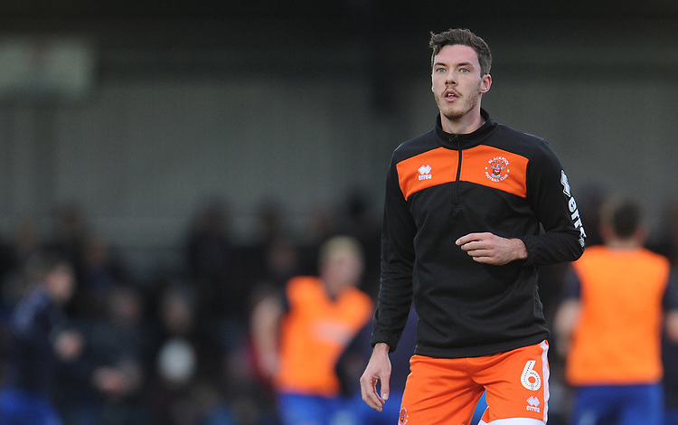 Blackpool's Ben Heneghan during the pre-match warm-up <br /> <br /> Photographer Kevin Barnes/CameraSport<br /> <br /> The EFL Sky Bet League One - AFC Wimbledon v Blackpool - Saturday 29th December 2018 - Kingsmeadow Stadium - London<br /> <br /> World Copyright © 2018 CameraSport. All rights reserved. 43 Linden Ave. Countesthorpe. Leicester. England. LE8 5PG - Tel: +44 (0) 116 277 4147 - admin@camerasport.com - www.camerasport.com