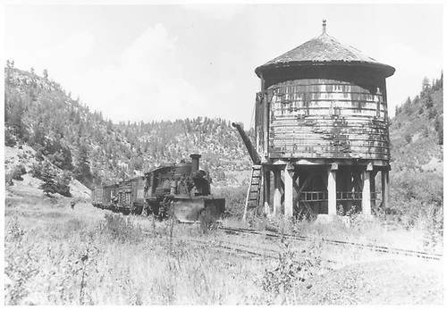 K-27 #461 with a freight approaching Brown water tank.<br /> RGS  Brown, CO  Taken by Krause, John