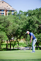 Blayne Barber (USA) watches his putt on 10 during round 4 of the Valero Texas Open, AT&amp;T Oaks Course, TPC San Antonio, San Antonio, Texas, USA. 4/23/2017.<br /> Picture: Golffile | Ken Murray<br /> <br /> <br /> All photo usage must carry mandatory copyright credit (&copy; Golffile | Ken Murray)