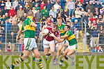 Kerry's Tommy Walsh and Paul Galvin and Galway's Barry Cullinane.