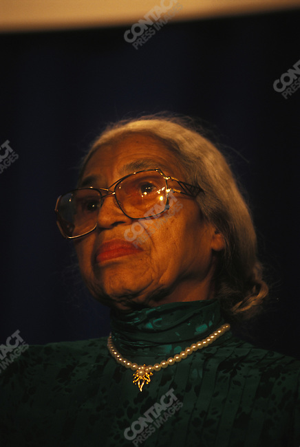 Rosa Parks, civil rights figure, March 1997