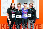 Angela Manning, Orla Russell, Valerie Ní Bhruic and Ciara Russell (all from Ventry) at the Dingle Women's Marathon on Saturday morning.