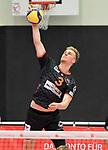 08.02.2020, GER, VBL, SVG Lueneburg vs Berlin Recycling Volleys, im Bild Einzelaktion Hochformat Kyle Ensing (Berlin #03)/ Foto © nordphoto/ Witke