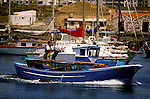 Fishing boat leaving the port. Las Galletas,Tenerife, Canary Islands, Spain