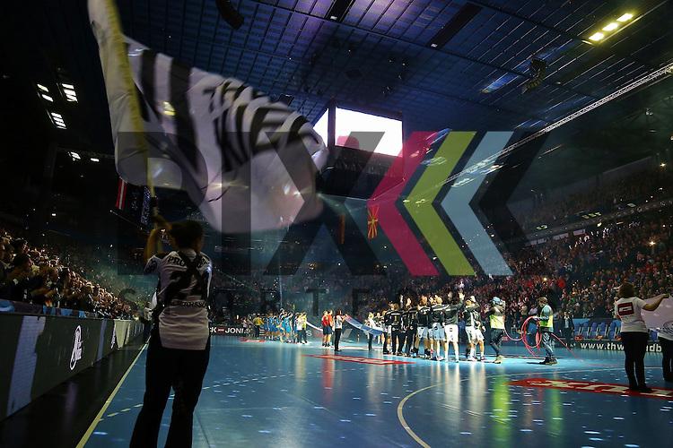 Kiel, 15.02.15, Sport, Handball, Champions League, Gruppenphase, THW Kiel - HC Metalurg Skopje<br /> <br /> Foto &copy; P-I-X.org *** Foto ist honorarpflichtig! *** Auf Anfrage in hoeherer Qualitaet/Aufloesung. Belegexemplar erbeten. Veroeffentlichung ausschliesslich fuer journalistisch-publizistische Zwecke. For editorial use only.