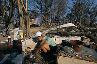 Aftermath of Hurricane Katrina.