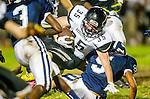Lawndale, CA 10/18/13 - Garrett Nelsen (Peninsula #35) in action during the Peninsula vs Leuzinger Varsity football game at Leuzinger High School.